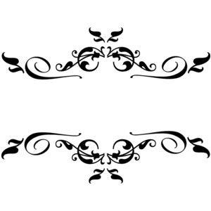 black swirl border clip art.