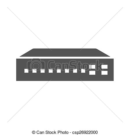 Vector Clipart of Networking Switch.