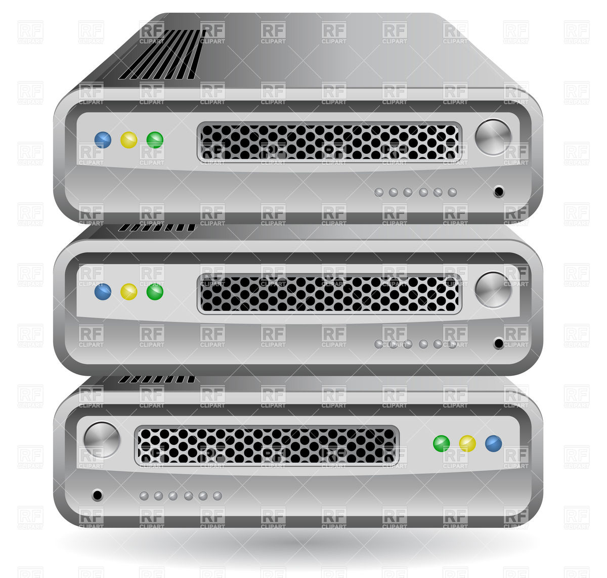 Network Router, Switch or Server Vector Image #5904.