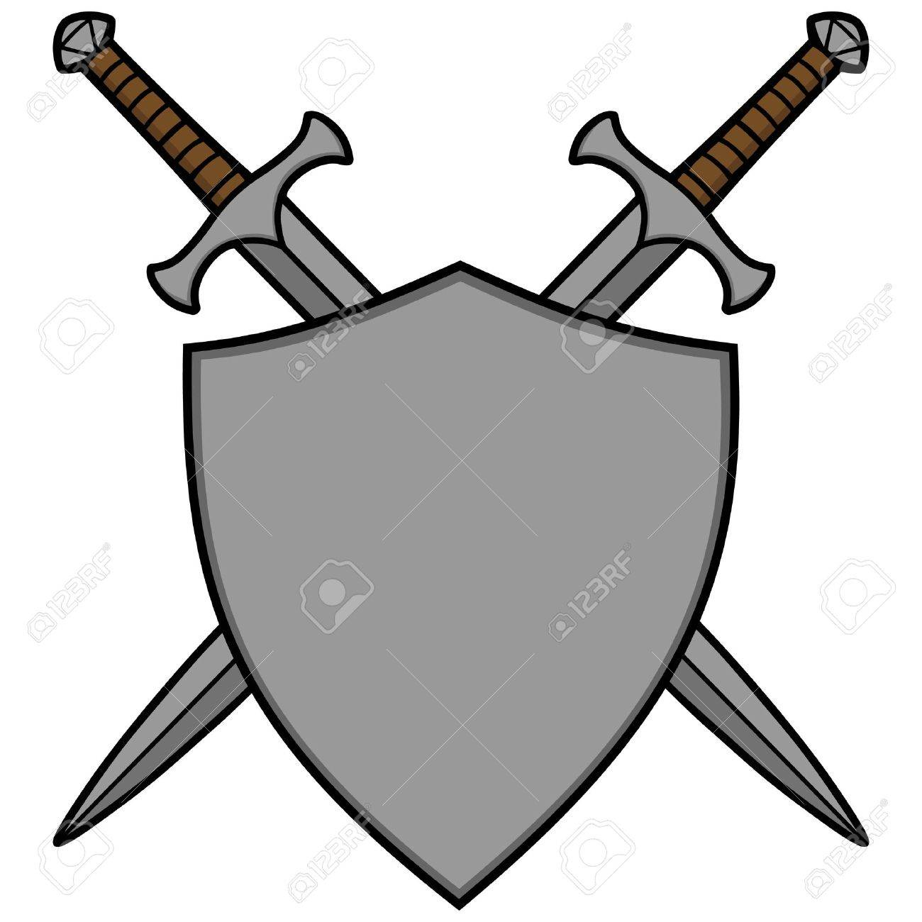 Crossed Swords and Shield.