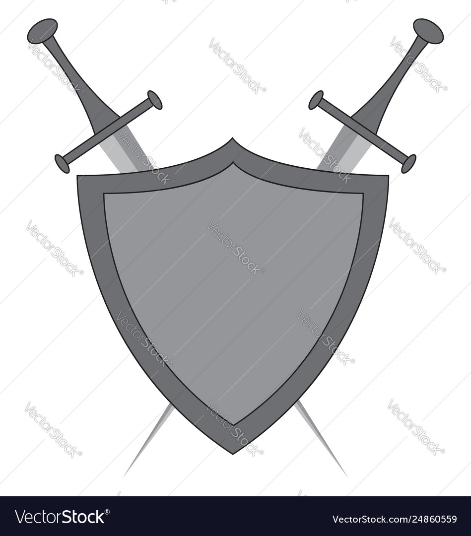 Clipart crossed swords and shield color.