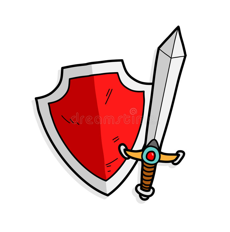 Sword Shield Stock Illustrations.
