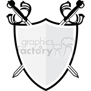 vector swords and shield clipart. Royalty.