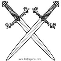 Crossed Swords Clip Art.