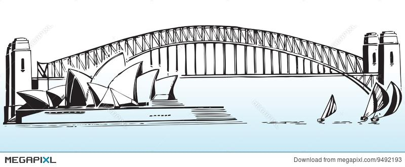 Sydney Harbour Bridge Illustration 9492193.
