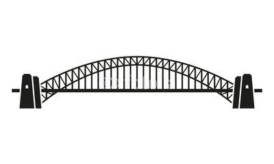 sydney harbour bridge silhouette.