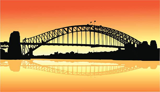 Sydney Harbor Bridge Illustrations, Royalty.
