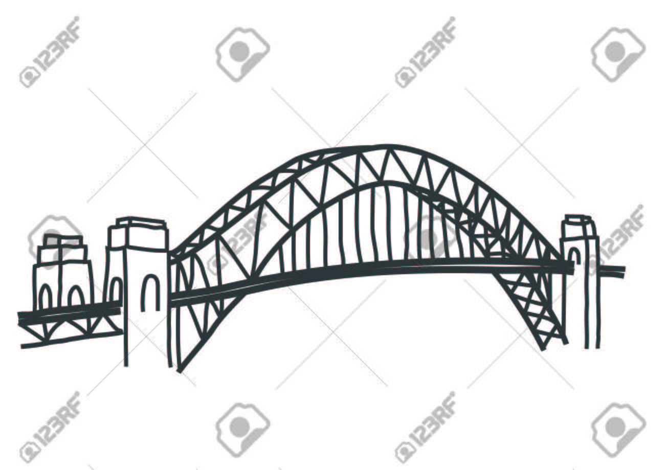 illustration of Sydney Harbour bridge, australia.