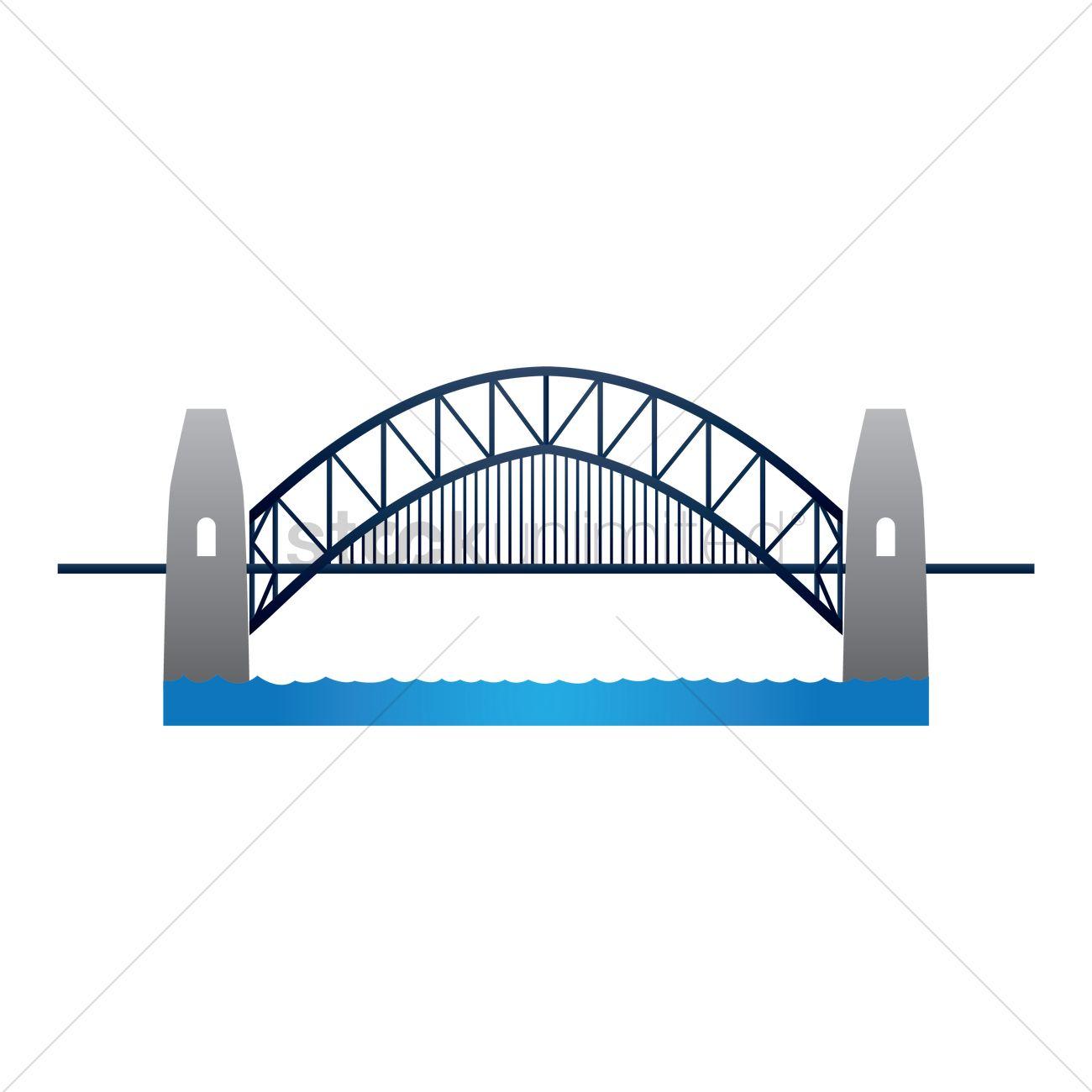 Sydney harbour bridge Vector Image.