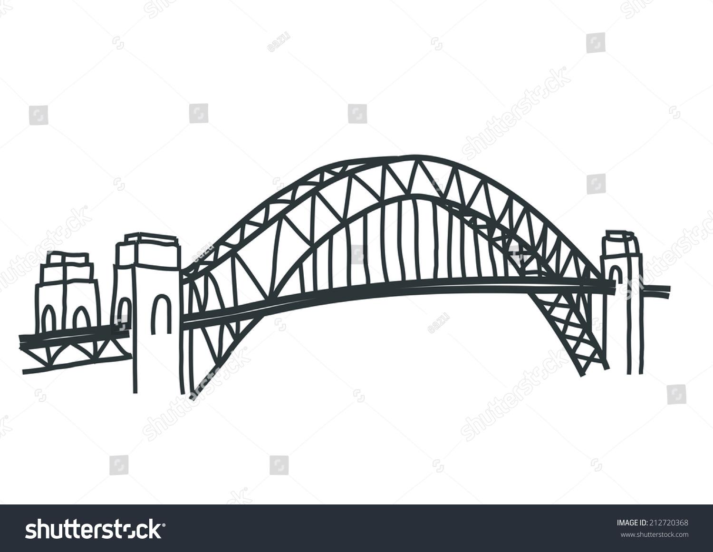 Sydney Harbour Bridge Vector Stock Vector (Royalty Free) 212720368.