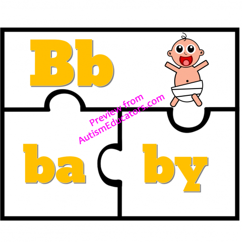 Two Syllables Words Puzzles.