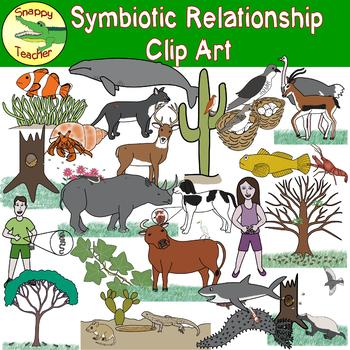 Symbiotic Relationship Clip Art by Snappy Teacher.