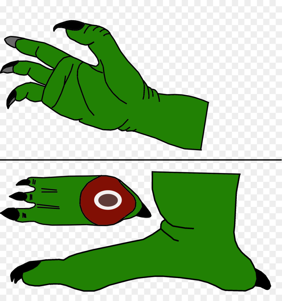 Leaf Frog Thumb Line art Clip art.