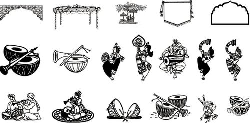 Hindu Wedding Clipart Fonts Free Download ClipartXtras  download.