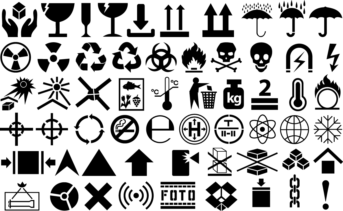 Cargo symbols Vector Icon Template Clipart Free Download.