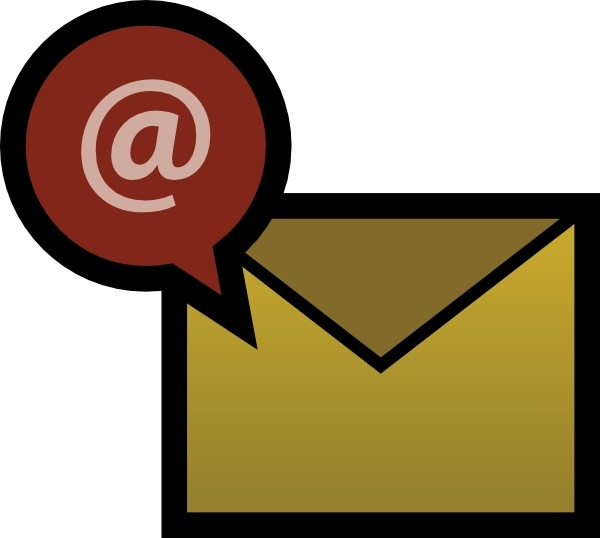 Email clip art Free vector in Open office drawing svg ( .svg.