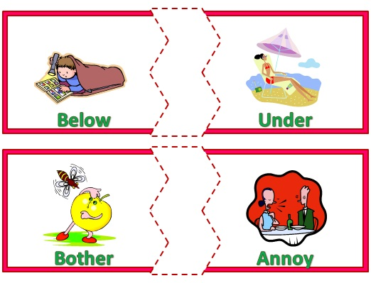 Nyla\'s Crafty Teaching: A Matching Activity for Synonyms!.