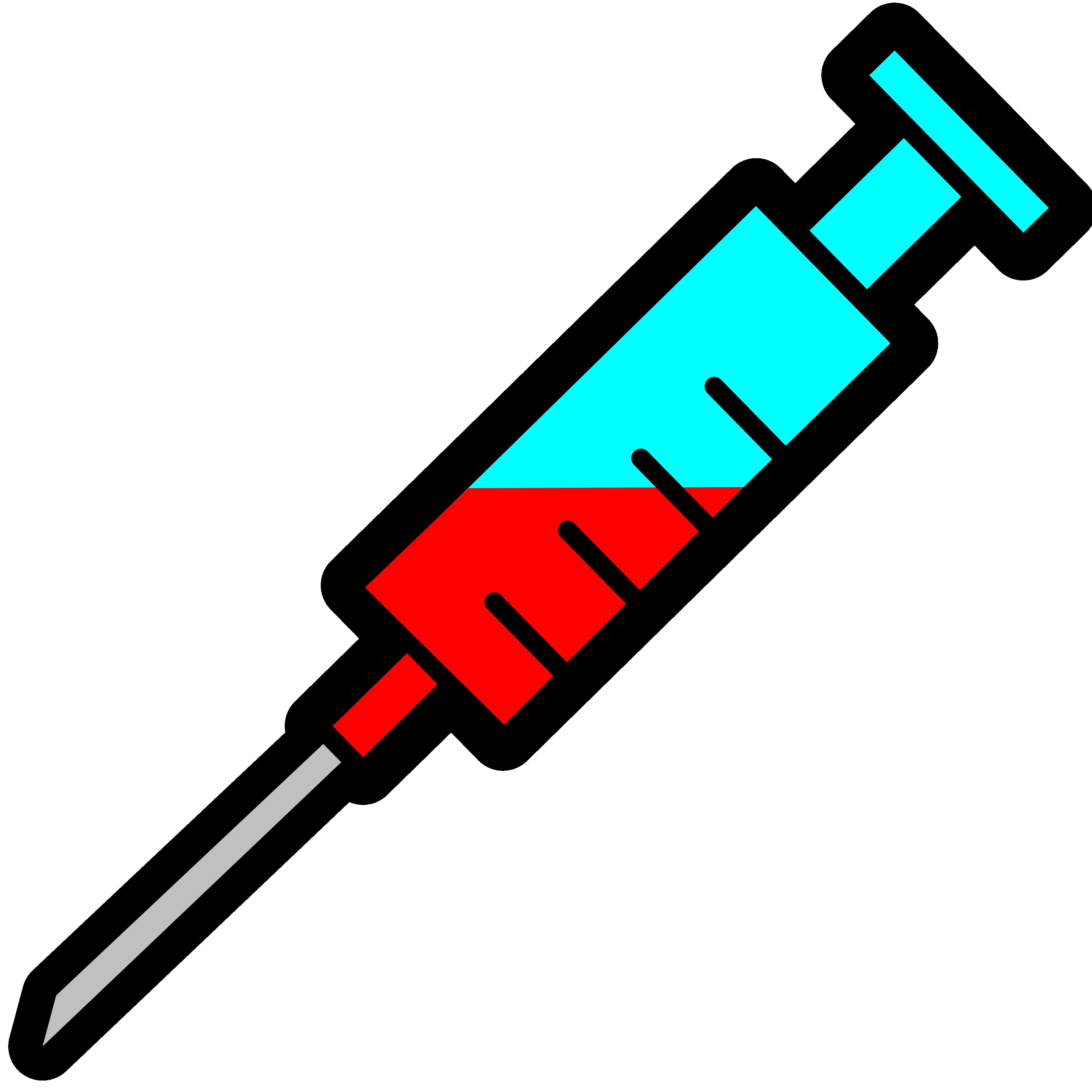 Syringe clip art.