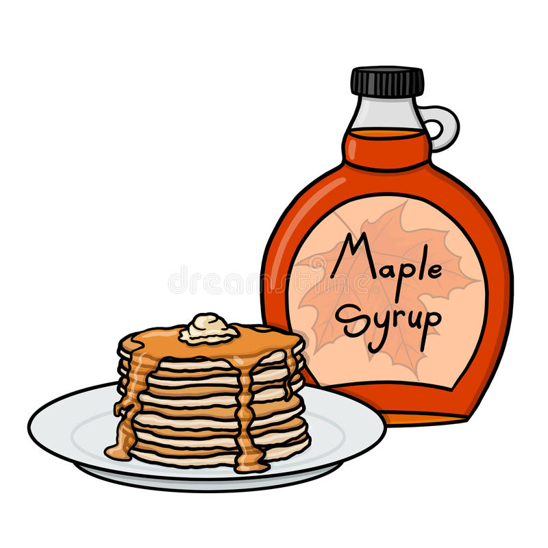 Pancakes And Syrup Clipart.