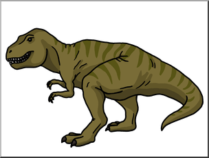 Clip Art: Tyrannosaurus Rex 2 Color I abcteach.com.