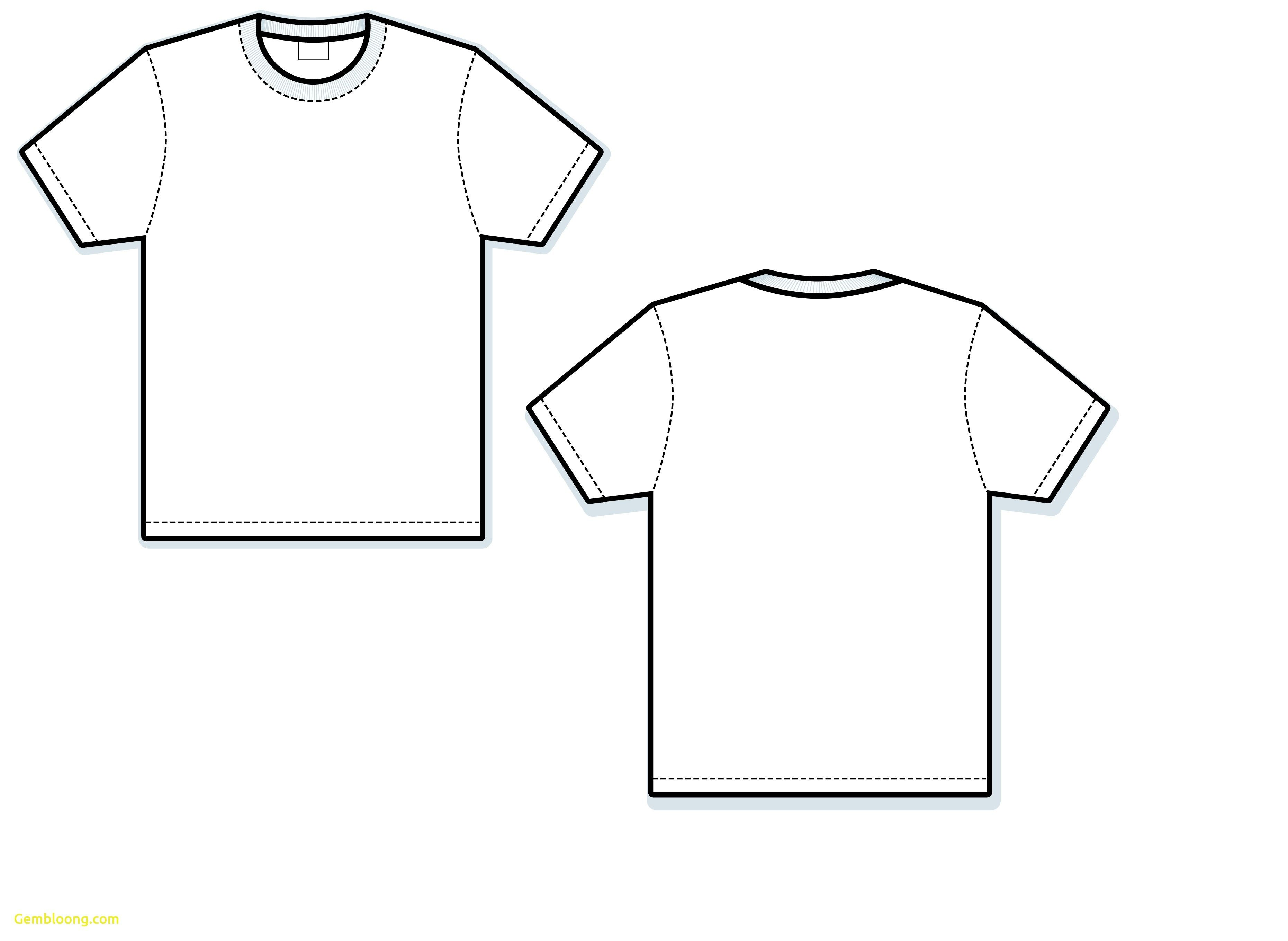 T Shirt Vector Template Awesome Blank T Shirt Free Download.