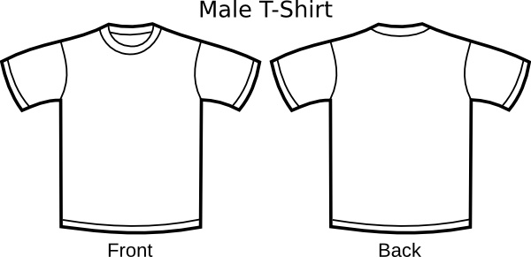 T Shirt Template clip art Free vector in Open office drawing svg.
