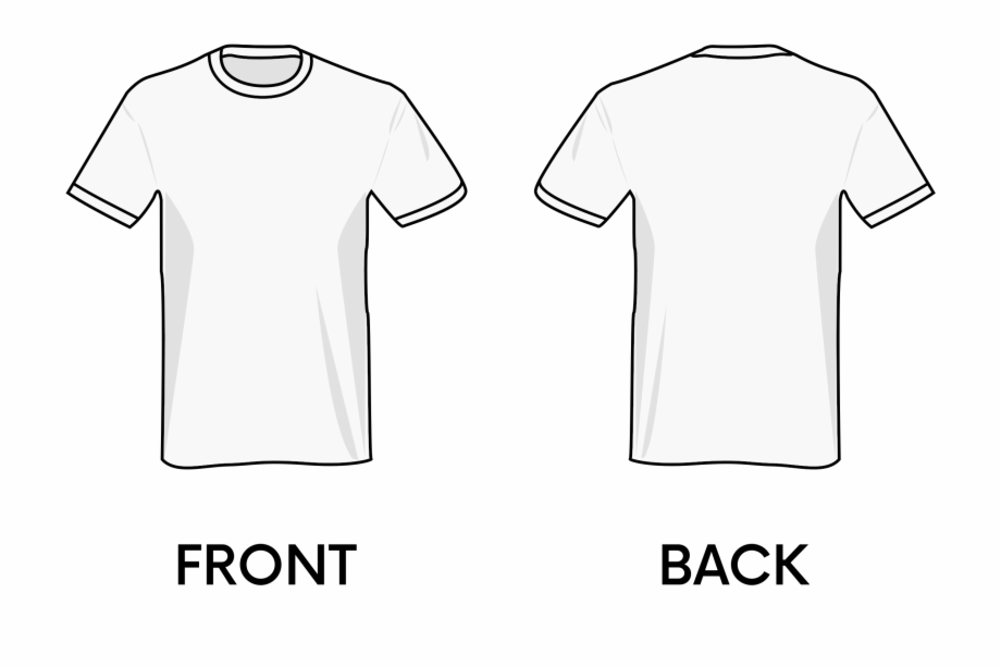 Black T Shirt Template Png.