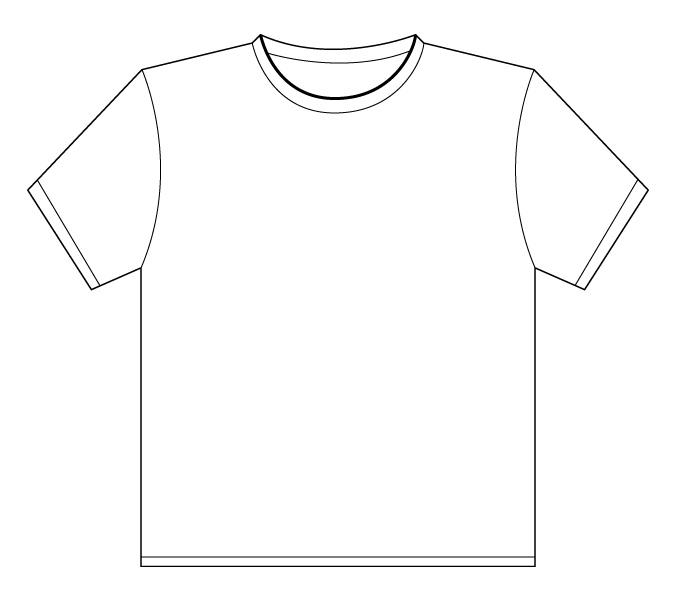 Free T Shirt Outline Template, Download Free Clip Art, Free Clip Art.