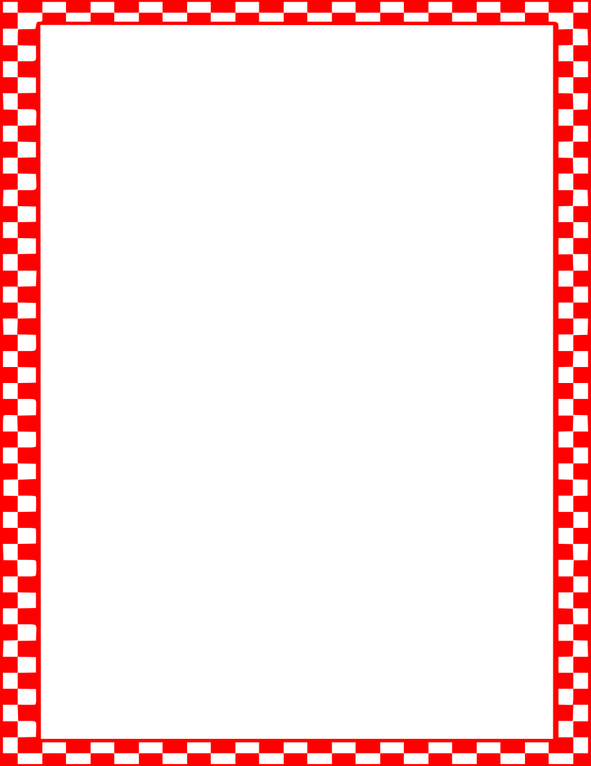 Red Checkered Tablecloth Border.
