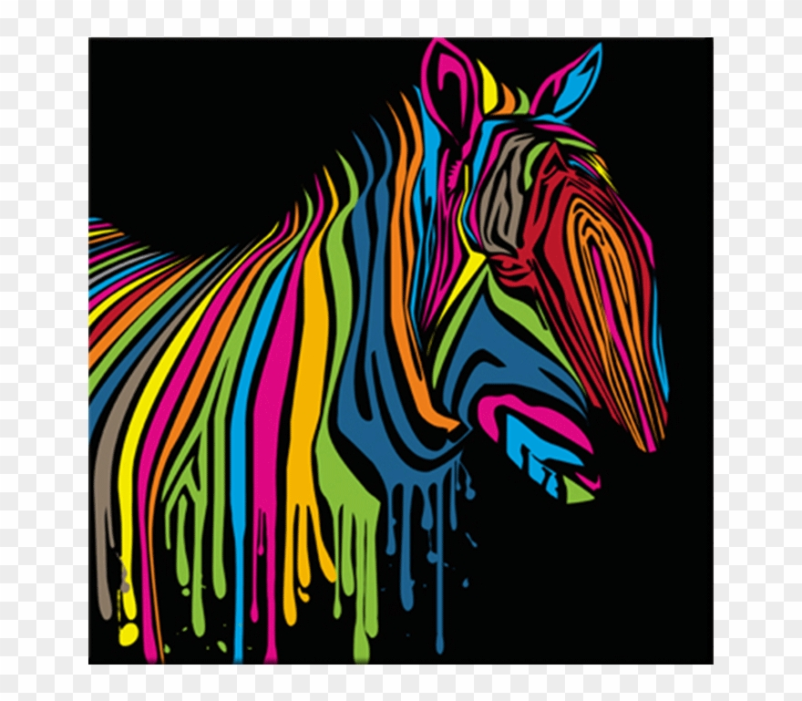 Tableau Pop Art Zebra Flash.