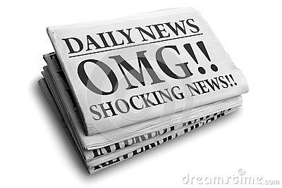Daily news newspaper headline.