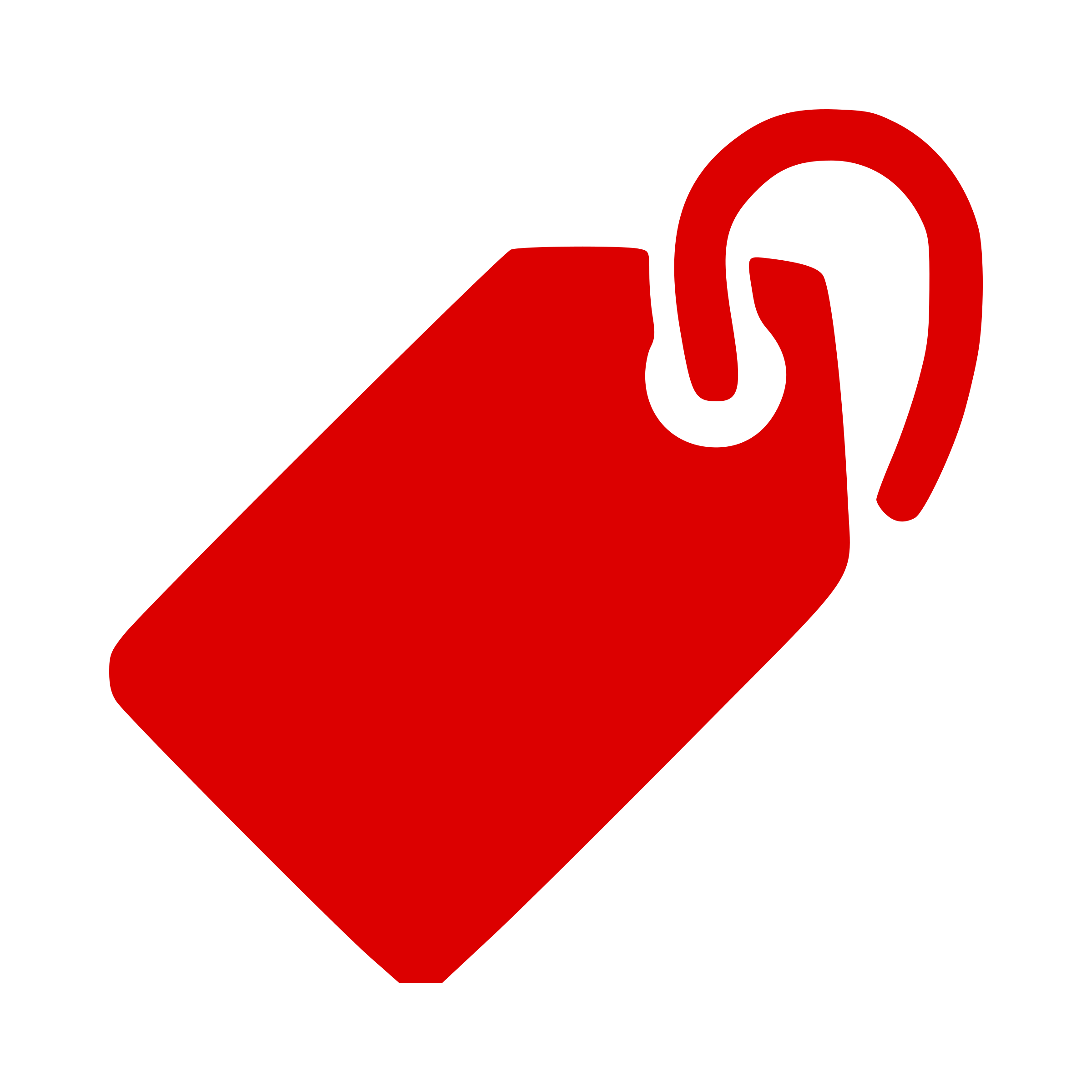 Red Tags Vector Clipart image.