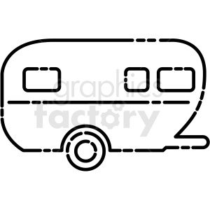 camper trailer icon clipart. Royalty.