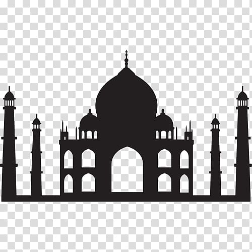 Taj Mahal Drawing, taj mahal transparent background PNG.