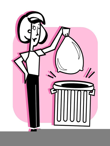 Taking Out Trash Clipart.