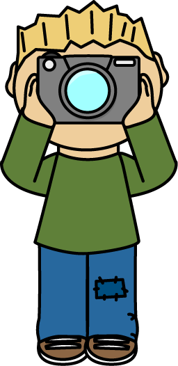 Boy Photographer free clip art from mycutegraphics.com.