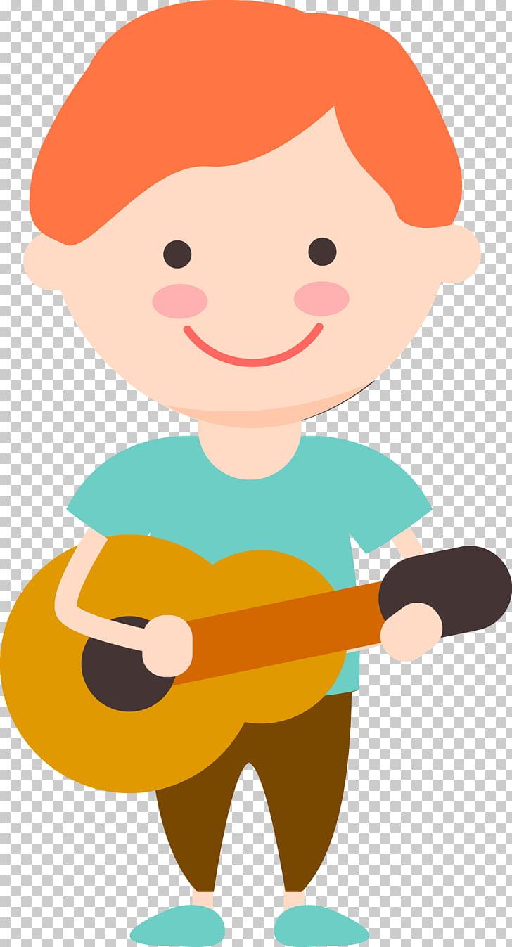 Child Cartoon Play Illustration, Cartoon child talent show.