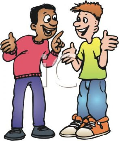 Talking To Others Clipart #1.
