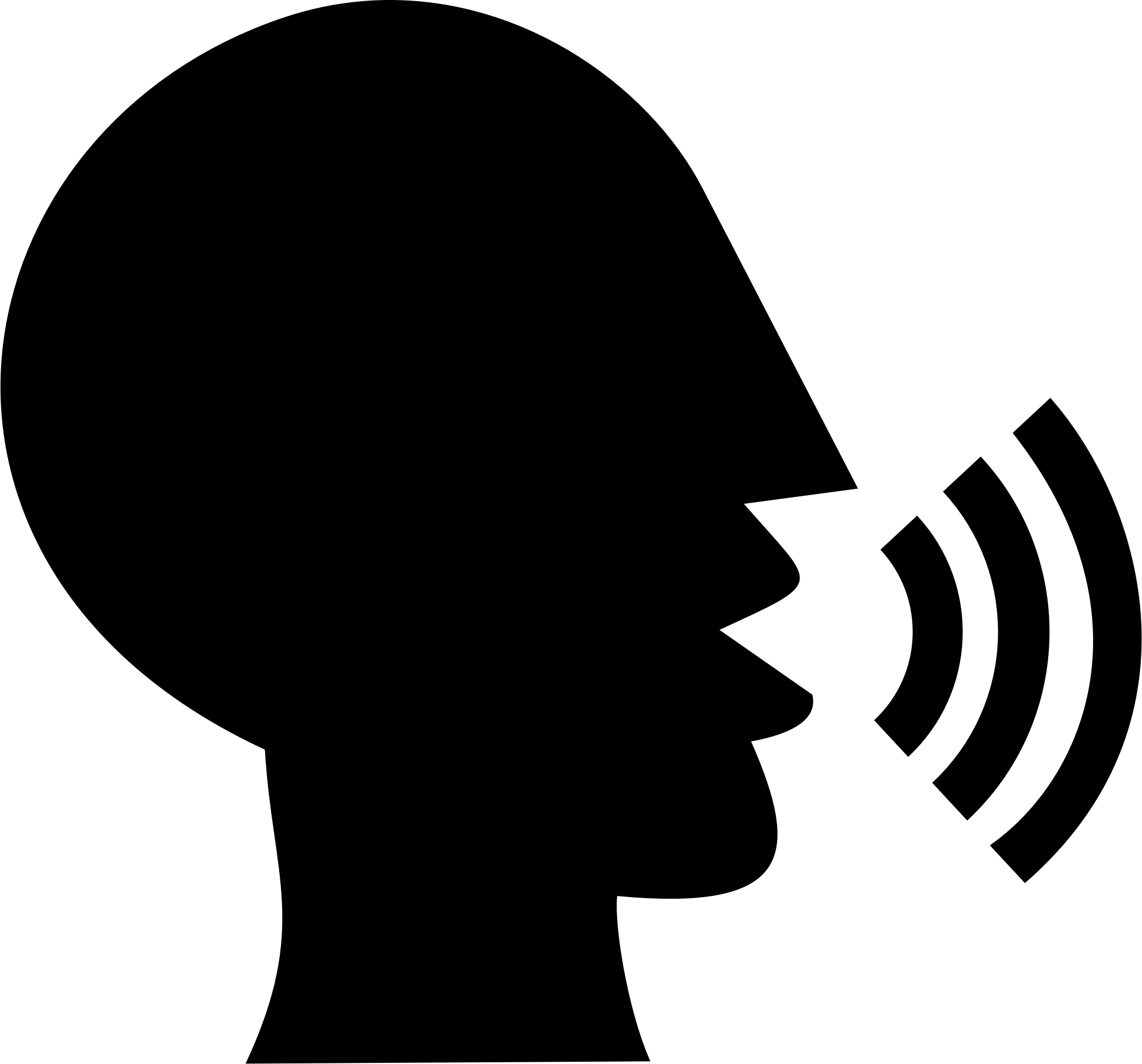 Talking Head Silhouette vector clipart image.