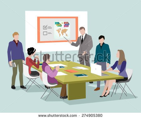 People Talking Around A Table Clipart.