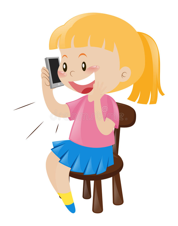 Woman Talking On Phone Clipart.