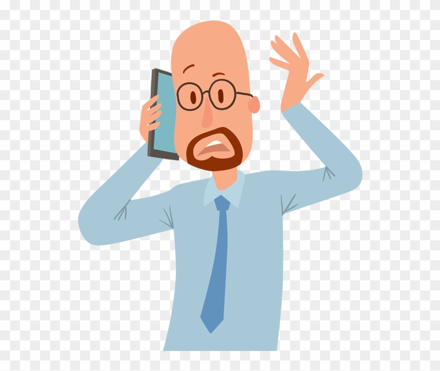 People Talking With Phone Vector Clipart (#3504205).