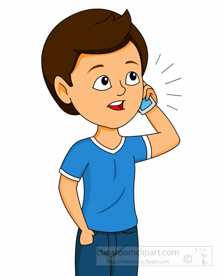 Talking On Cell Phone Clipart.
