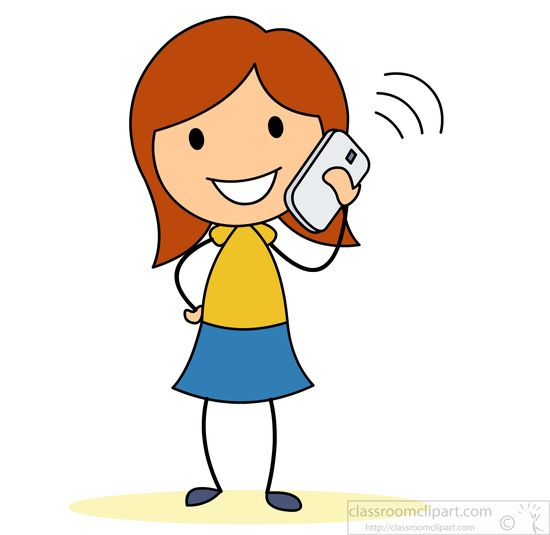 Girl talking on phone » Clipart Station.