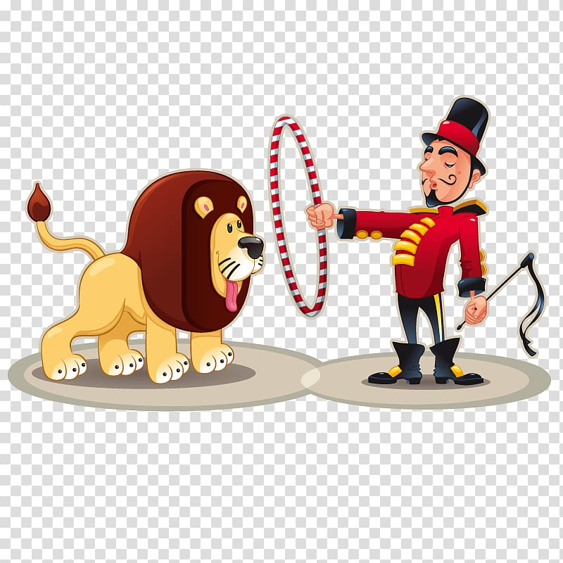 Lion taming Circus , Circus transparent background PNG.