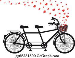 Tandem Bicycle Clip Art.