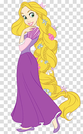 Disney Rapunzel, Disney Tangled Rapunzel illustration.