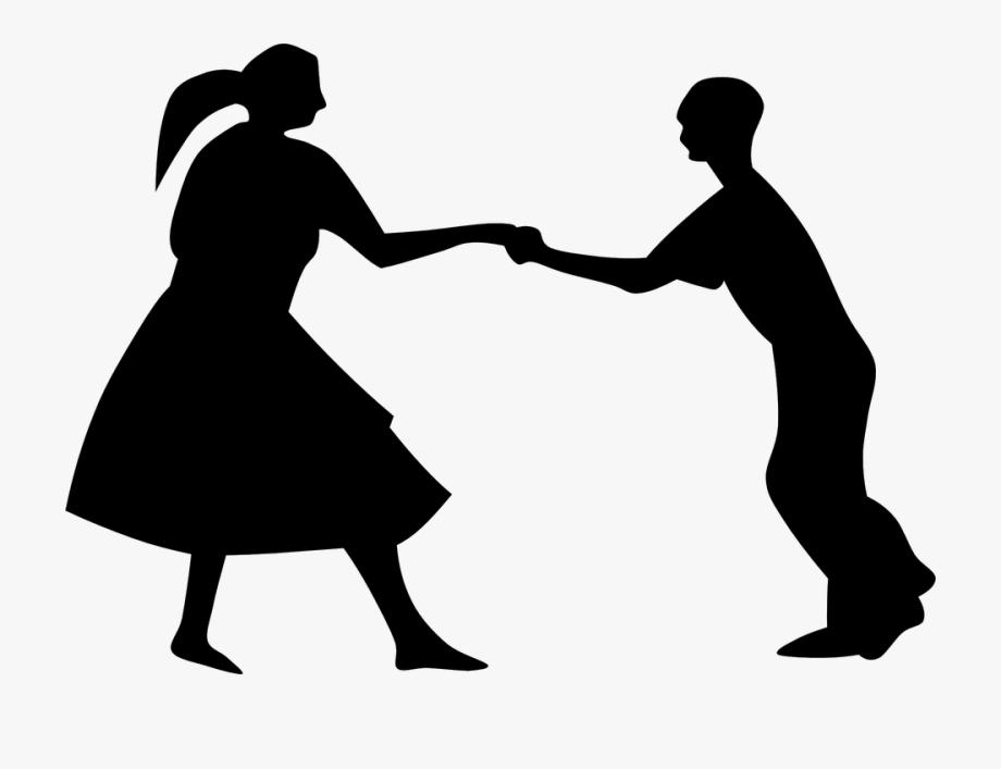Tanz, Silhouette, Schwarz, Tanzen, Paar, Menschen.