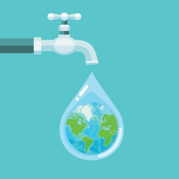 Best Tap Water Illustrations, Royalty.