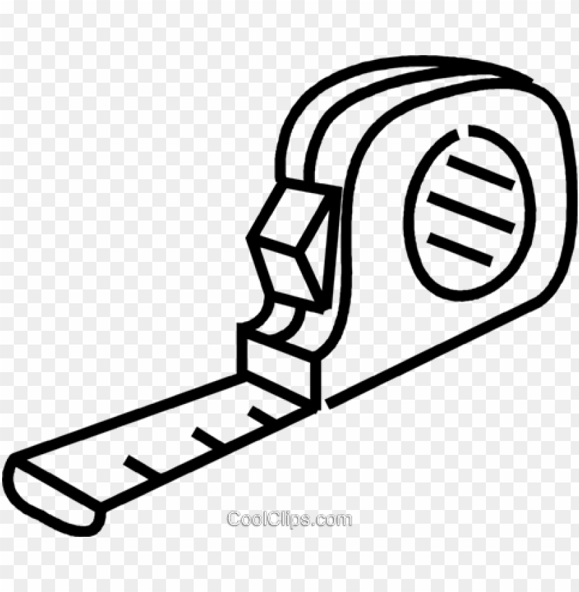 tape measure royalty free vector clip art illustration.
